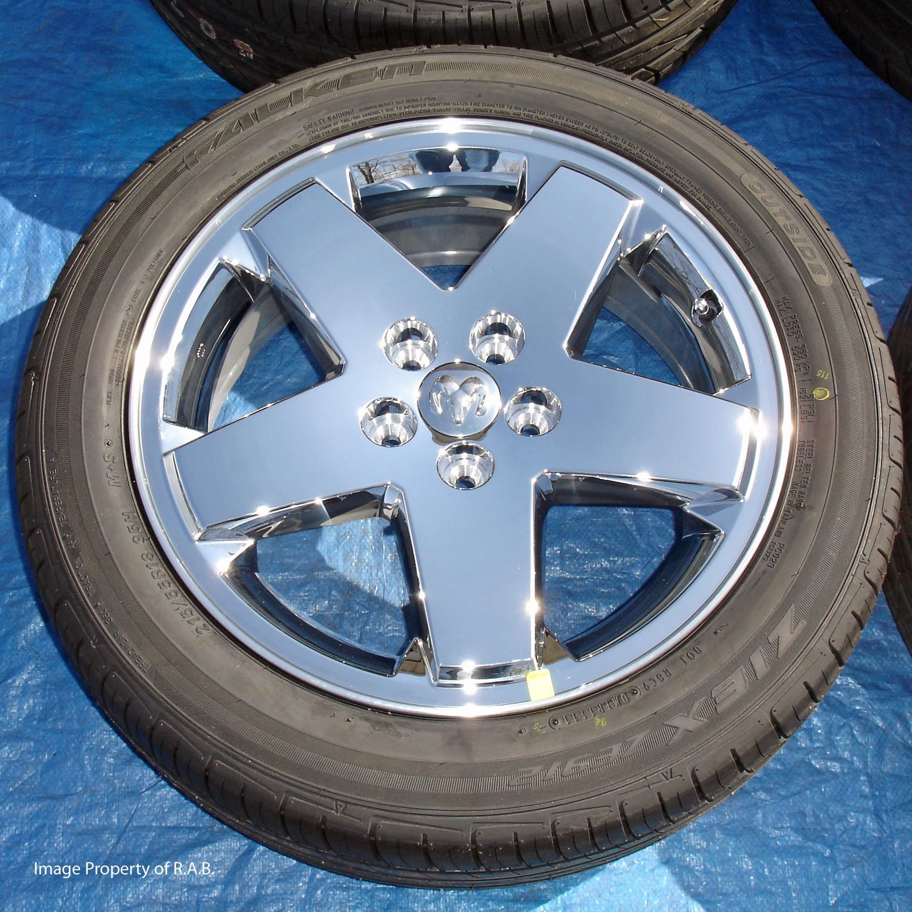 Dodge Caliber 18 CHROME clad wheels with TIRES, Avenger, Chrysler