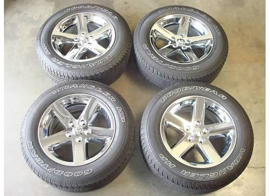 RAM 1500 SPORT Express SLT Chrome Wheels Rims TIRES OEM Factory HEMI