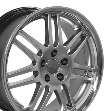 18 RS4 Style Hyper Silver Deep Wheels 18 x 8 Rims Fit Audi