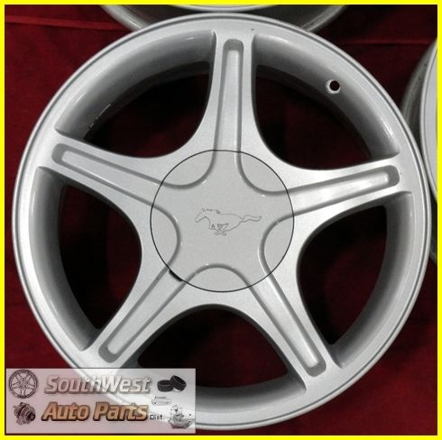 99 00 01 02 03 04 Ford Mustang GT 17 Silver Wheels Used Factory Rims