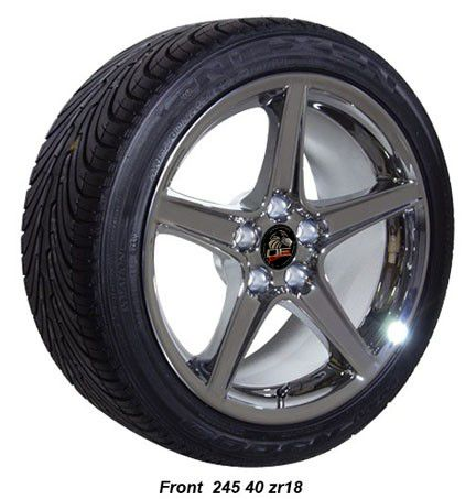 Saleen Style Wheels Nexen Tires Rims Fit Mustang® GT 94 04